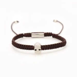 Luxury Skull Bracelet - Brown