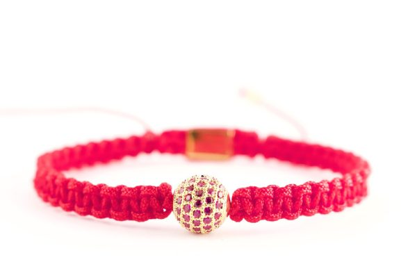 red shamballa 18kt gold