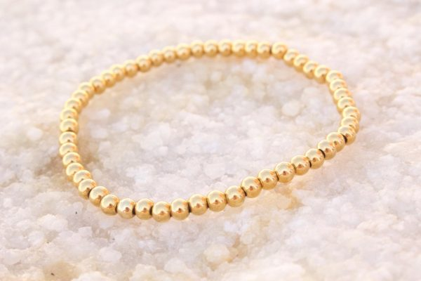 5mm 18kt Yellow Gold Beaded Bracelet
