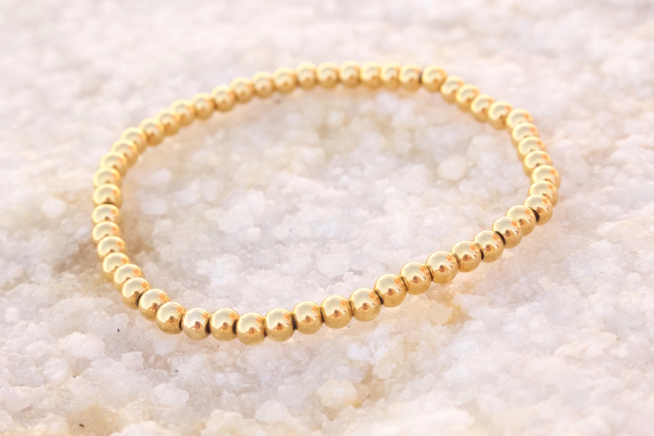 mens bracelets gold beaded
