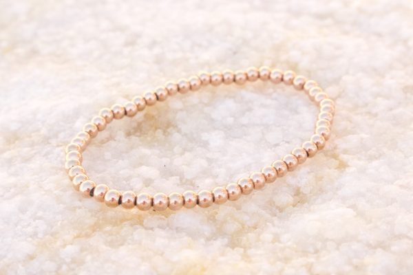5mm 18kt Rose Gold Beaded Bracelet